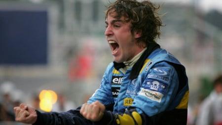 Fernando Alonso en el GP de Brasil 2005, tras proclamarse Campeón del Mundo de F1 por primera vez (Foto: Getty Images)
