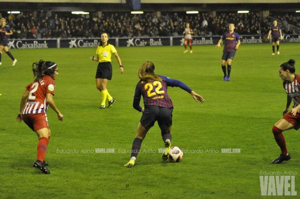 Martens en una acción del partido de la primera vuelta / Foto: Noelia Déniz (VAVEL.com)