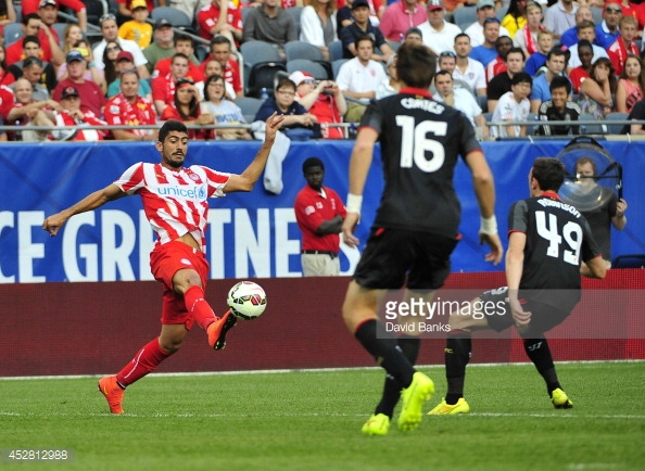 Bouchalakis rarely featured at Olympiakos. (picture: Getty Images / David Banks)