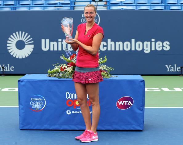 In August, Kvitova won the 2014 Connecticut Open held in New Haven . Photo credit: Elsa.