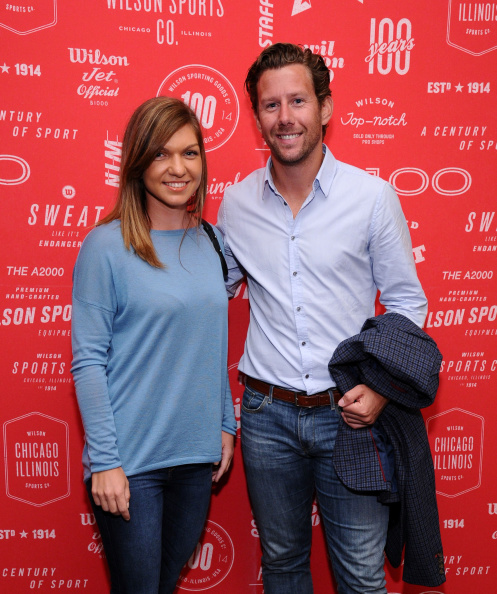 Halep and Fissette at the Wilson 100 Year Anniversary Cocktail Party in August 2014. Photo credit: Ilya S. Savenok/Getty Images.