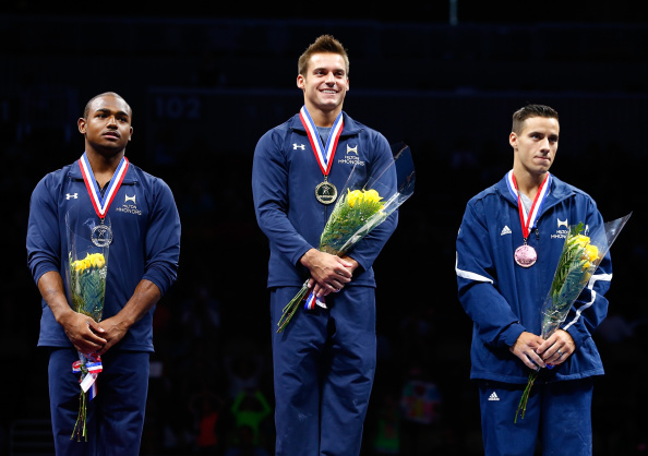 Sam Mikulak, John Orozco, and Jake Dalton at the 2014 P&G Championships/Getty Images