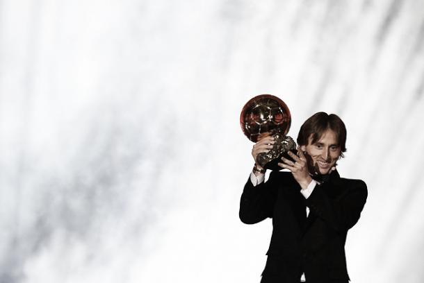 Modric junto a su primer balón de oro | Foto: Real Madrid C.F.