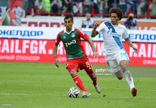 Witsel in azione contro la Lokomotiv | Foto: Getty Images