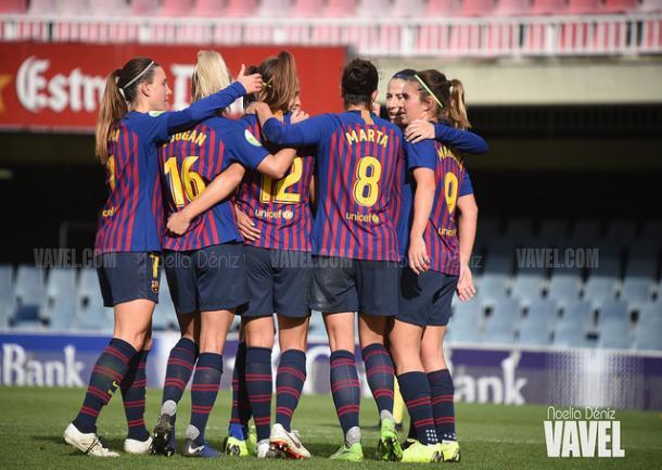 Imagen de archivo de las jugadoras del Barça Femenino. FOTO: Noelia Déniz