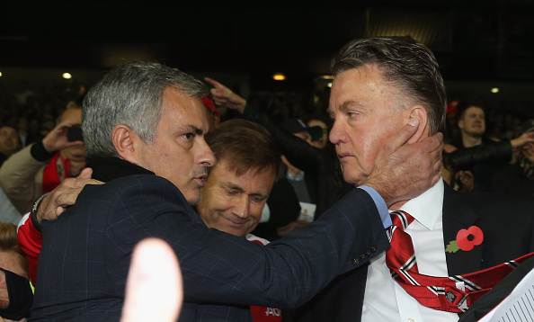 Mourinho and van Gaal worked together at Barcelona | Photo: John Peters/Manchester United