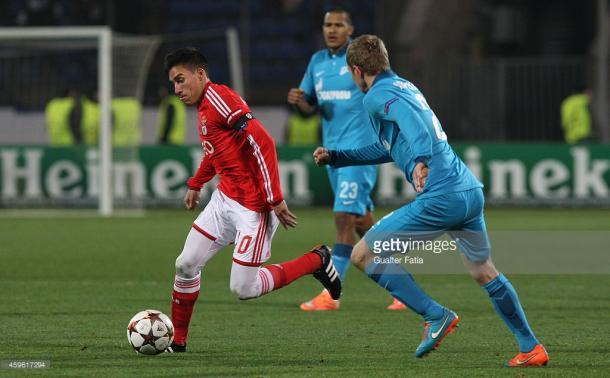 O Benfica foi até à Rússia na época passada, perdendo por 1-0