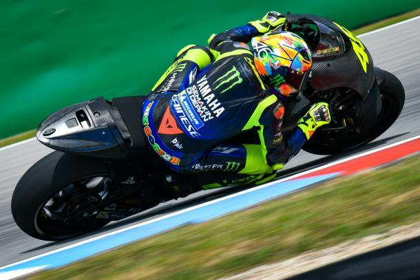 Rossi, probando el prototipo para 2020. Imagen: MotoGP