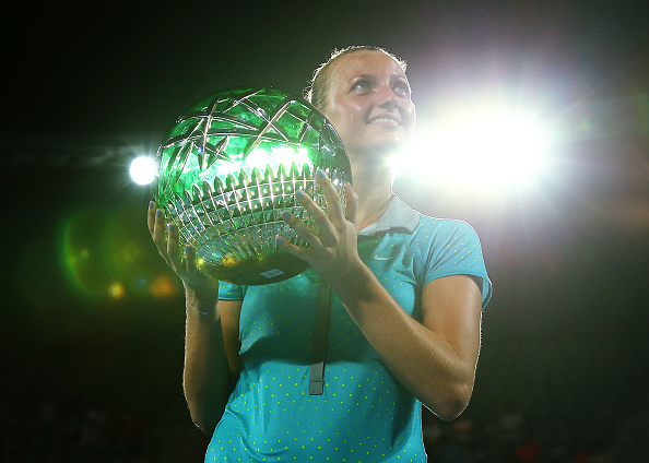 Kvitova won her first title of 2015 in Sydney, her third in Australia and 15th overall. Photo credit: Brandon Thorne/Getty Images.