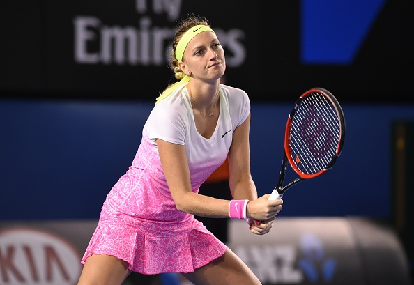 Kvitova had an uneventful Middle Eastern swing in February 2015. Photo credit: William West/Getty Images.
