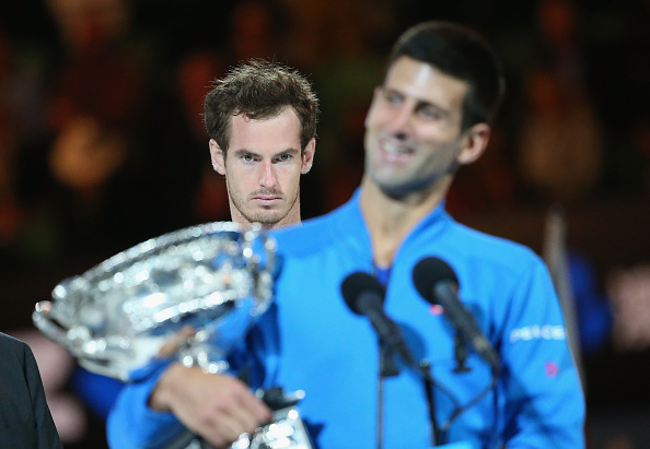 Murray looks on amorously, as the Scot loses his first Australian Open final to Djokovic in 2015 (photo:getty)