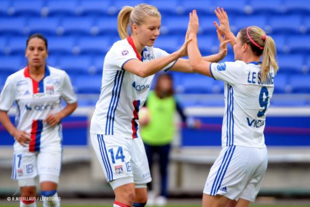 Ada Hegerberg picked up two goals in 45 minutes   Source: R. Moullaud/LeProgres