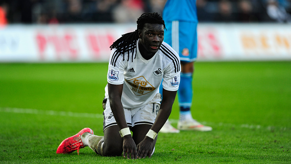 Bafetimbi Gomis' luck has turned against him after a quick-fire start to his Swansea career. (Photo: Stu Forster/Getty Images)