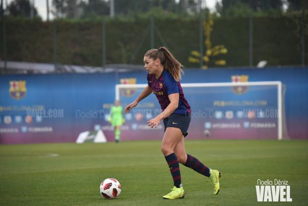 Aunque no marcó, Martens se mostró muy activa durante todo el encuentro / Foto: Noelia Déniz (VAVEL.com=