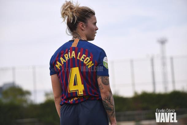 Imagen de archivo de María León, jugadora del Barça. FOTO: Noelia Déniz
