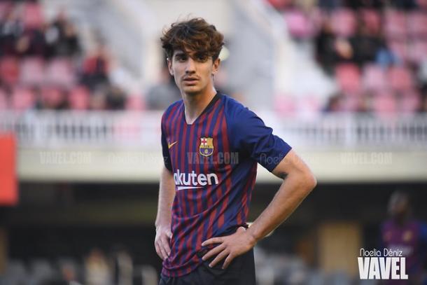 Álex Collado, jugador del FC Barcelona B. FOTO: Noelia Déniz
