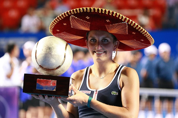Bacsinszky completed the 'Mexican sweep' in 2015 by winning Acapulco and Monterrey thus becoming the first and so far, only player to do so. Photo credit : Anadolu Agency / Getty Images.