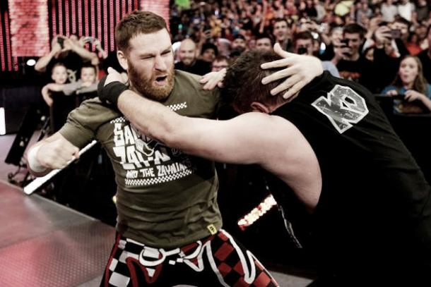 Sami Zayn and Kevin Owens may soon be going at it again (image:bleacherreport.com)