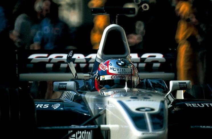 Juan Pablo Montoya, en su año debut en la Fórmula 1. Imagen: artsper.com
