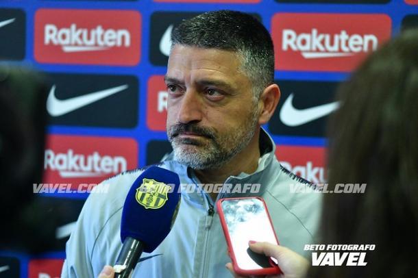 García Pimienta, entrenador del Barça B. FOTO: Beto Fotógrafo
