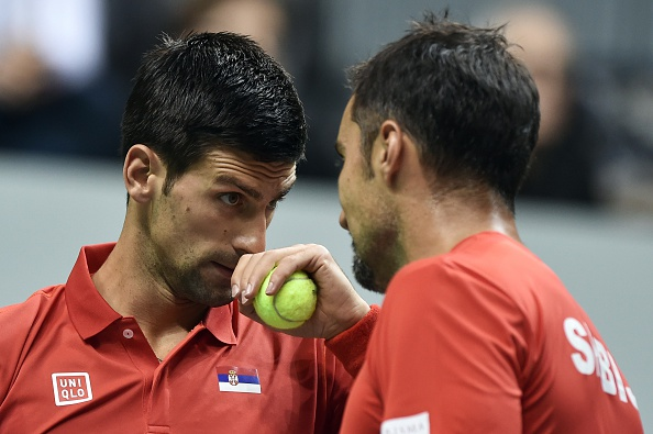 Djokovic (left) and Zimonjic look set to team up again (Photo: Getty Images)