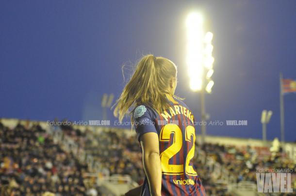 Martens volvió a marcar como azulgrana / Foto: Eduardo Ariño (VAVEL.com)