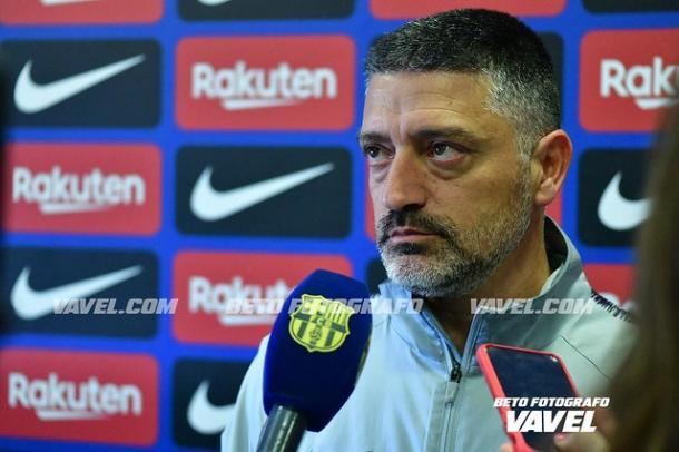 Imagen de García Pimienta, entrenador del Barça B. FOTO: Noelia Déniz