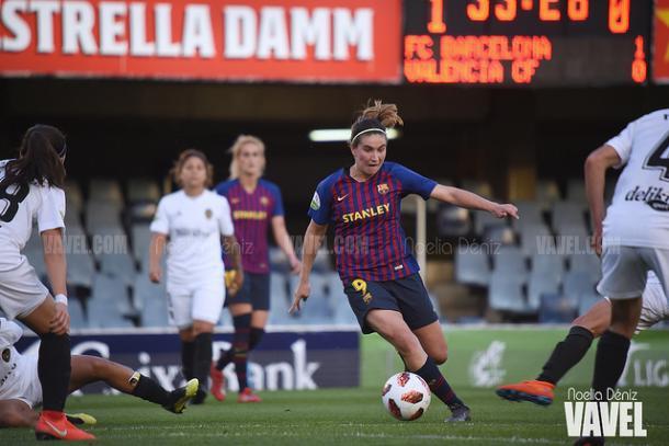 Imagen de archivo de Mariona, jugadora del FC Barcelona Femenino. FOTO: Noelia Déniz