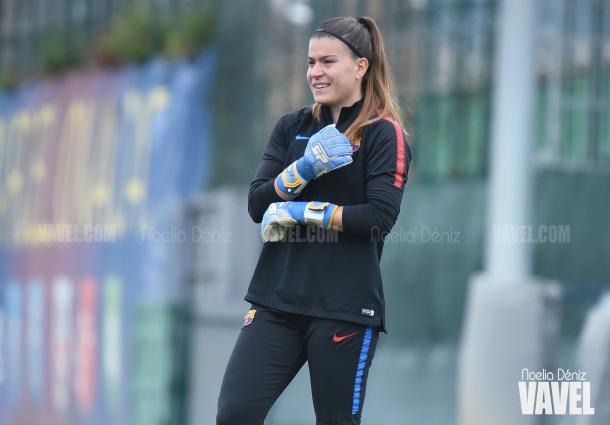 La canterana azulgrana está llamada a ser el futuro del FC Barcelona femenino / Foto: Noelia Déniz (VAVEL.com)
