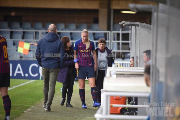 Van der Gragt se tuvo que retirar una vez iniciado el partido | Foto: Noelia Déniz - VAVEL