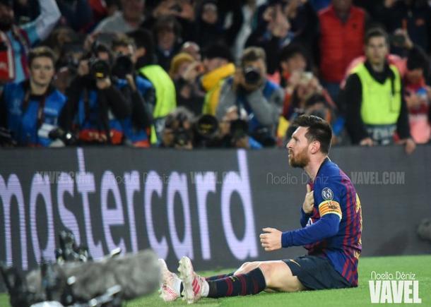 Leo Messi celebrando el gol. FOTO: Noelia Déniz