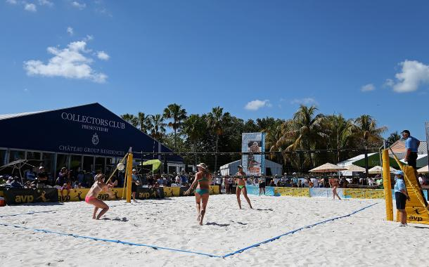 The Miami Open experience features celebrity chefs, beach volleyball exhibitions, swimsuit fashion shows, and games for fans of all ages/Miami Open