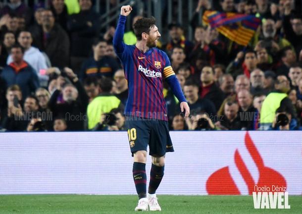 Leo Messi celebrando un gol. FOTO: Noelia Déniz