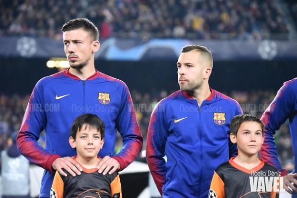 Lenglet y Jordi Alba en Champions | Fuente: Noelia Déniz (VAVEL)