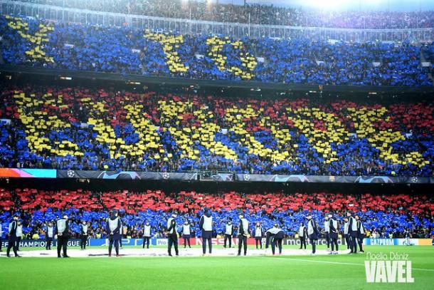 Mosaico del Camp Nou. FOTO: Noelia Déniz
