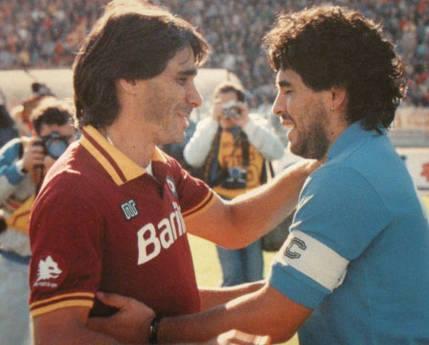 Conti y Maradona. / Foto: tuttonapoli