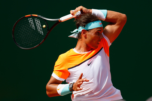 Rafael Nadal whips a forehand at the 2015 Monte Carlo Rolex Masters/Getty Images