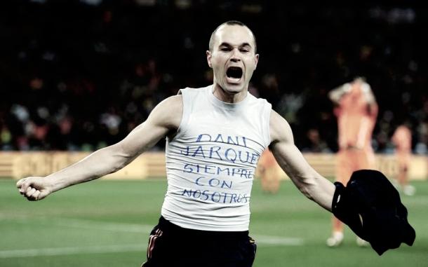 El homenaje de Andrés Iniesta a Dani Jarque en el Mundial de 2010 | Foto del Fútbol Club Barcelona