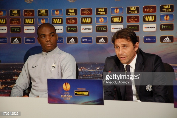 Above: Angelo Ogbonna and Antonio Conte during their time with Juventus | Photo: Getty Images