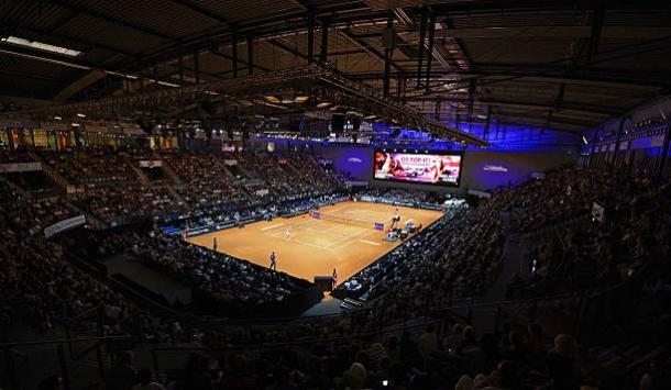 Porsche-Arena, the venue for the Porsche Tennis Grand Prix. Photo credit: Daniel Kopatsch/Getty Images.