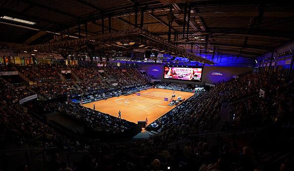 The Porsche Tennis Grand Prix, played indoors,  will be held at the Porsche-Arena. Photo credit: Daniel Kopatsch/Getty Images.