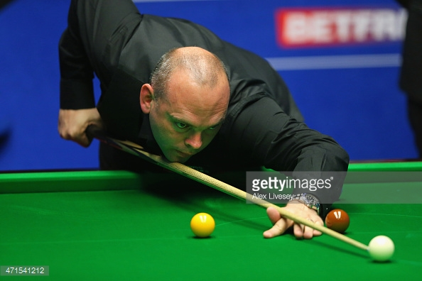 Bingham crashes out (photo: Getty Images)