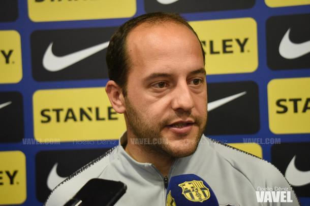 Imagen de Lluís Cortés, técnico del FC Barcelona. FOTO: Noelia Déniz