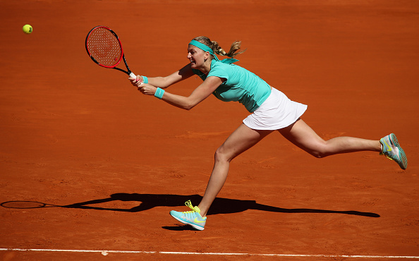 Kvitova sat out the month of March 2015 due to exhaustion, returning to action after a six-week break. Photo credit: Clive Brunskill/Getty Images.