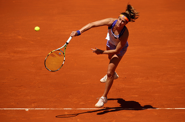 Mariana Duque-Marino at the 2015 Mutua Madrid Open. Photo credit : Clive Brunskill / Getty Images.
