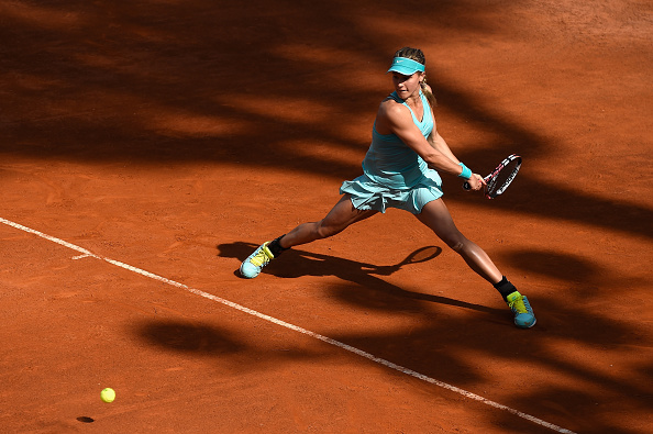 Bouchard put an end to a five-match losing streak in Rome. Photo credit: Mike Hewitt/Getty Images.