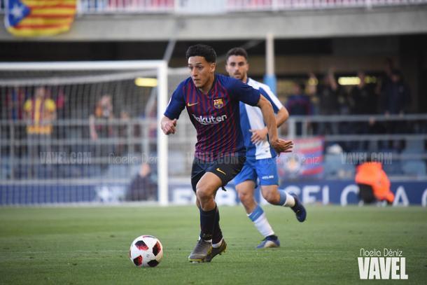 Kike Saverio fue titular ante el Espanyol B y se perderá el encuentro ante el Ebro | Foto: Noelia Déniz (VAVEL)
