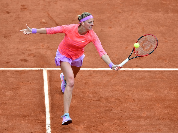 Kvitova in action during last year's French Open where she made the round of 16. Photo credit: Anadolu Agency/Getty Images.