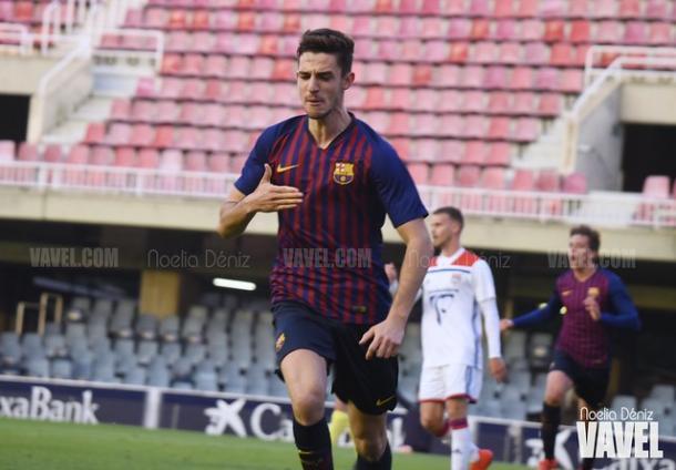 Alejandro Marqués celebrando un gol. FOTO: Noelia Déniz