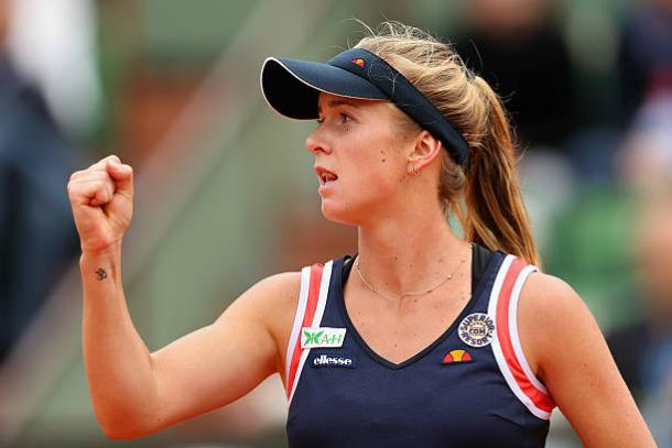 Elina Svitolina during her fourth round win against Alize Cornet at the French Open in 2015 )Getty/Clive Brunskill)